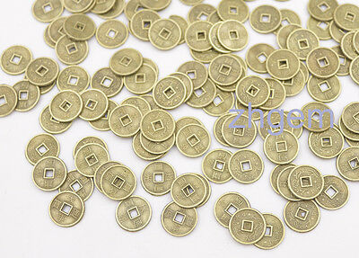 100 pcs Mix replica Chinese Qing Dynasty small 10mm coins feng shui crafts alloy