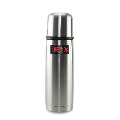 THERMOS Isolierflasche Light & Compact Steel matt 0,50 L Edelstahl Doppelwandig