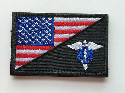 Medic Nurse Army Usa Flag Morale Tactical Embroidery Hook Patch Badge  Hs + 688