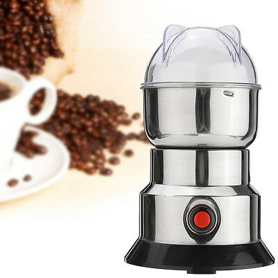 Electric Stainless Steel Coffee Beans Grinder Coffee Maker Nuts Mill Grinding