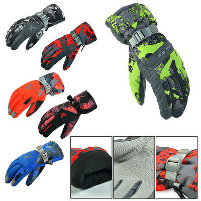 Winter Outdoor Men Skiing Riding Climbing Snow Waterproof Gloves PYG-816 AU