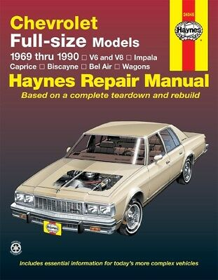 repair manual haynes 24045 fits 69 90 chevrolet caprice 20 56 rh picclick com 95 Chevy Impala SS with Rally 95 Chevy Impala Springs