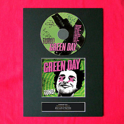 GREEN DAY Uno Album Signed CD COVER MOUNTED A4 Autograph Print 32
