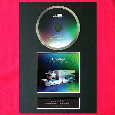 JLS Greatest Hits Album Signed CD COVER MOUNTED A4 Autograph Print 29
