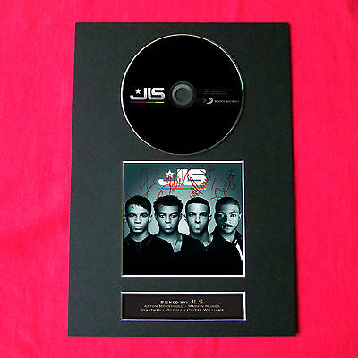 JLS Album Signed CD COVER MOUNTED A4 Autograph Print 28