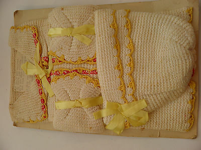 Vintage Gag Baby Shower Favor Dishcloths Made Into Faux Baby Clothes With Poem