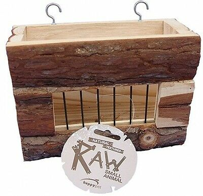 Happy Pet Raw Wooden Hayrack Small Animals Toy Supplies and Accessories Kit