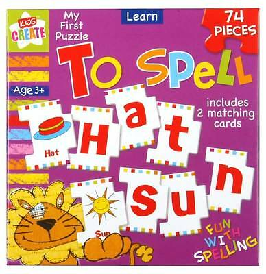 Childrens 74 Piece Learn To Spell Educational Alphabet Puzzle Kids Jigsaw