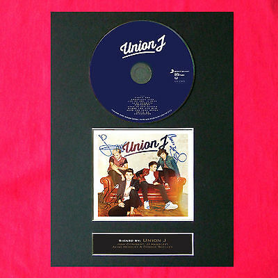 UNION J Album Signed CD COVER MOUNTED A4 Autograph Print 17