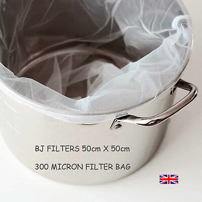 BIAB HOME BREWING BEER-WINE MAKING-300 MICRON-CORDED FILTER BAG 50 X 50cm £6.95