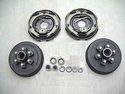 "Add Brakes Basic Kit 6x5.5 Drums 12"" Electric Backing Plates, 6000# Trailer Axle"