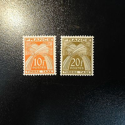 France Timbre Taxe N°86/87 Neuf ** Luxe Mnh