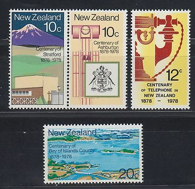 New Zealand 1978 ** Mi.736/39 Stadt City Landscape Karte Maps Sea [sq4210]