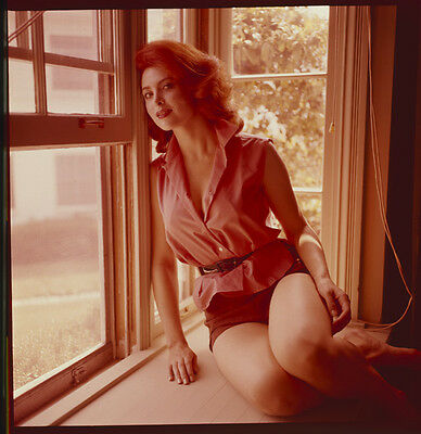 TINA LOUISE Vintage alluring pose in window ORIGINAL 2 1/4 Transparency Slide