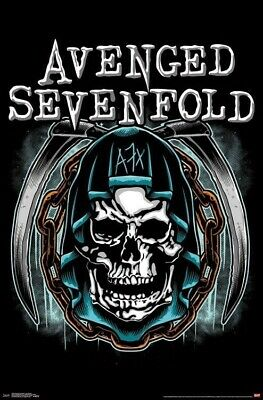 AVENGED SEVENFOLD ~ HOLY REAPER 22x34 MUSIC POSTER A7X Death Skull NEW/ROLLED!