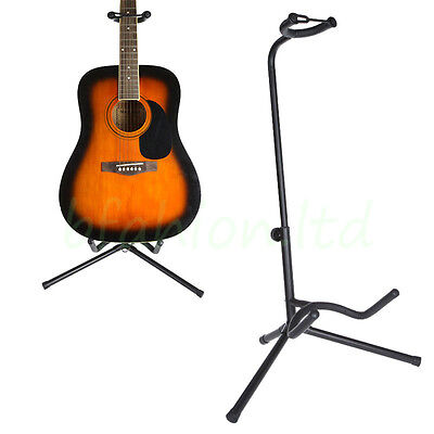 Black Guitar Tripod Floor Stand for Electric/ Acoustic/ Bass Guitars