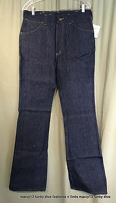 NOS NWT Vintage 60's 70's Sedgefield Cotton Bell Bottom Jeans Sz 33 x 34