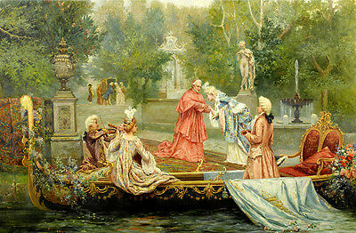 European classical oil painting farewell Art printed on canvas L1312
