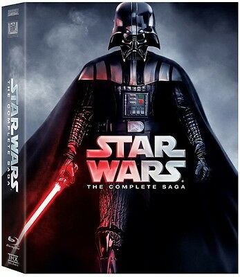 Star Wars: Complete Saga - 9 DISC SET (2015, REGION A Blu-ray New)