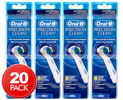 4 x Oral-B Precision Clean Replacement Heads 5pk