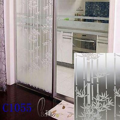 90cm x5m Bamboo Privacy Frosted Frosting Removable Glass Window Film c1055