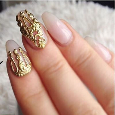 Decorations 10 PCS Hollow Alloy Nail Art 3D Nails Decorations Charms Beautiful