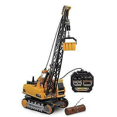 Kid Galaxy Remote Control Crane. 8-Function Construction Toy Vehicle New