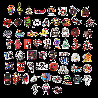 100Pc Lifelike Cartoon Sticker Bomb Decal Vinyl Roll For Car Skate Laptop Hot