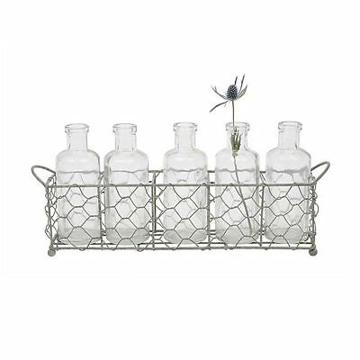 Wire Holder with Glass Bottles