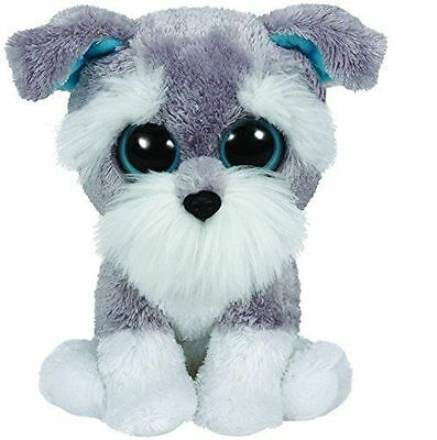 Whiskers The Grey Schnauzer Ty Beanie Boos  Brand New