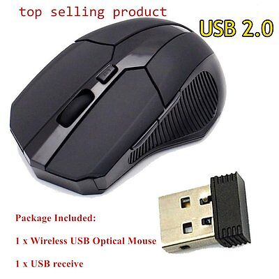 Wireless 2.4GHz Optical Mouse Mice Cordless USB Receiver For Laptop PC Window XR
