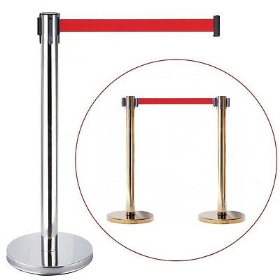 Stretch Crowd Queue Control Barrier Posts Safety/security Shop Ribbon Exhibition