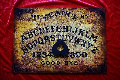 Wooden Ouija Board Planchette Magic Old Baltic spirit EVP ghost Seance LARGE A3