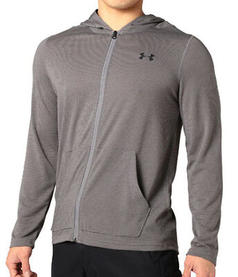 Under Armour Threadborne Fitted Full Zip Mens Hoody - Grey