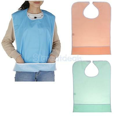 PVC Large Adult Bib Apron Tabard Fluid Proof Clothing Protector Washable New