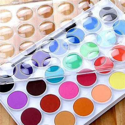 16/36 Colors set Solid Watercolor Cake Paint Pigment Set Transparent Box Gift B