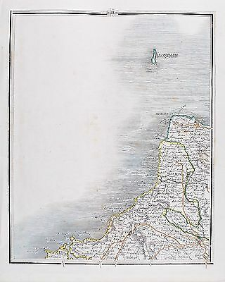 OLD ANTIQUE MAP DEVON LUNDY ISLAND PADSTOW TINTAGEL c1820's by J CARY