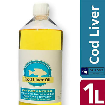1 Litre Pure Cod Liver Oil Liquid For Fishing Baits and Animals