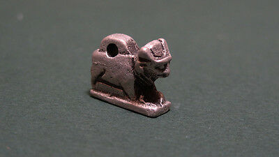 Ancient Apis Bull Pendant Solid Silver Egyptian Late Period 716-30 Bc