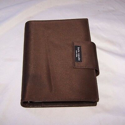 Kate Spade Brown Nylon & Leather Day Planner with Insert