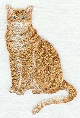 Embroidered Long-Sleeved T-Shirt - Tabby Cat C7892