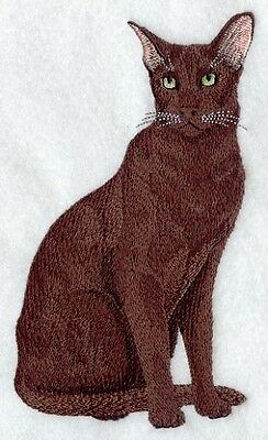 Embroidered Long-Sleeved T-Shirt - Havana Brown Cat C7962