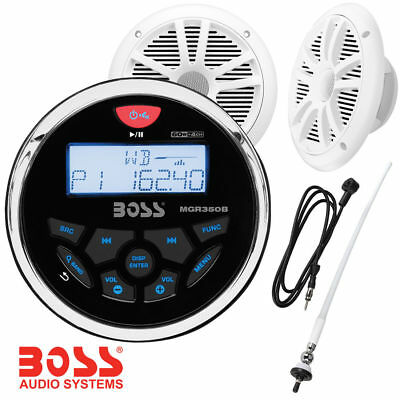 Stereo Boss Audio Marine MGR350B - Casse MR6W da 6.5 180Watts - Antenna MRANT12W