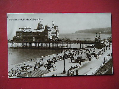 Colwyn Bay: Pavilion & Sands - Scarce Real Photo Postcard!