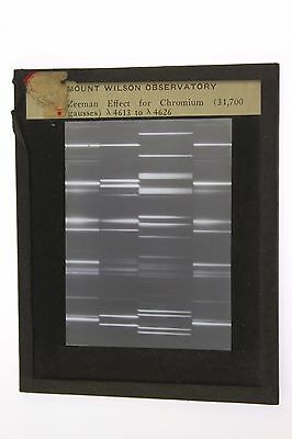 Mount Wilson Observatory Zeeman Effect Chromium Antique Magic Lantern Photo