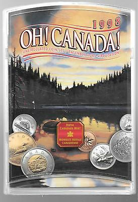 1998 Canada Uncirculated Proof like set  Canadian coins with case