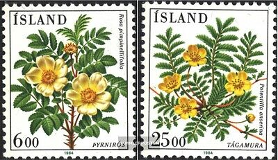 Iceland 612-613 (complete.issue.) unmounted mint / never hinged 1984 Flowers