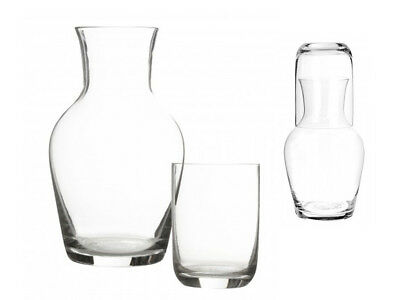 Carafe & Tumbler Set Glass Stack-Able Conical Design Water Wine Pitcher Decanter