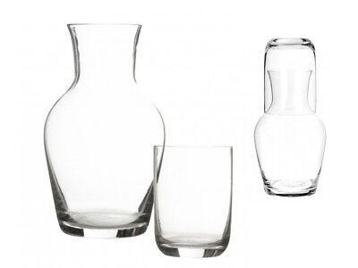 Carafe & Tumbler Set Glass Stackable Conical Design Water Wine Pitcher Decanter