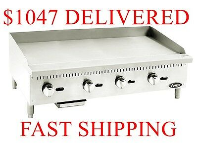 "NEW Atosa 48"" inch (4 foot) manual griddle Propane LP Gas restaurant Grill"